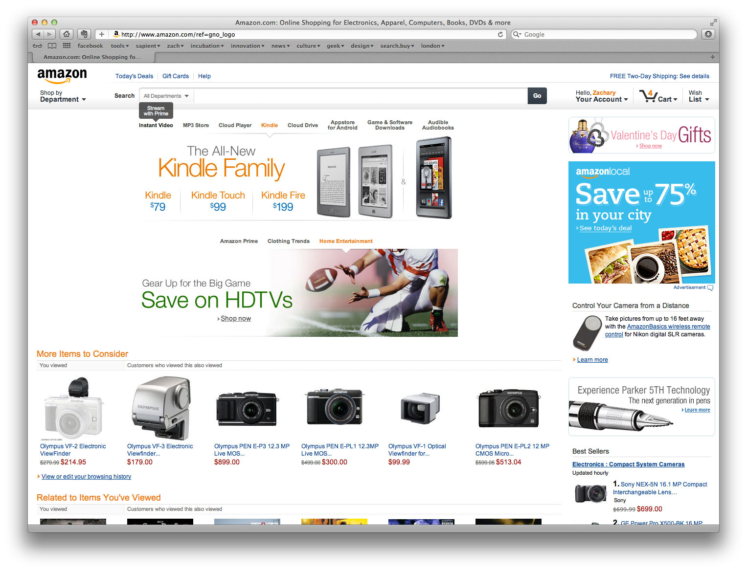 28 amazon home e commerce home page focus articles baymard amazon home thoughts zachary jean paradis